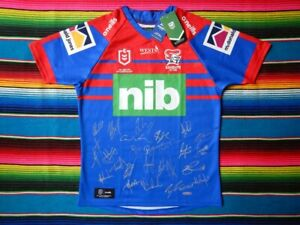 ✺Signed✺ 2021 NEWCASTLE KNIGHTS NRL Jersey PROOF COA 25 Autographs