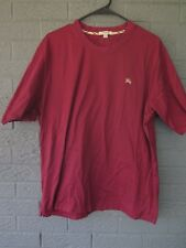 BURBERRY LONDON T SHIRT IN MAROON SIZE LARGE EQUESTRIAN KNIGHT