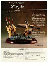 1989 Danbury Mint Canada Goose Porcelain Gliding In Vintage Print Advertisement