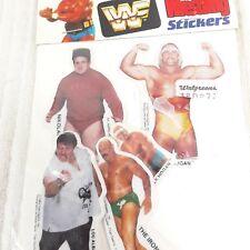 Vintage 80s WWF Puffy Photo STICKERS Hulk Hogan Iron Sheik Albano Volkoff NOS