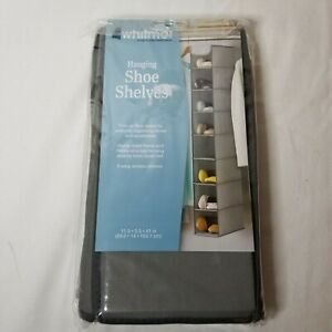 Whitmor 6536-301- Grey- Hanging 8-Tier Shoe Rack - New NEVER OPENED