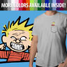 Calvin and Hobbes Funny Face Calvin in Pocket Mens Crew Neck Tee Unisex T-Shirt