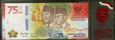 Nouveau 75000 Rupiah Billet UNC 2020 Indonésie 75eme Anniversaire Comm.