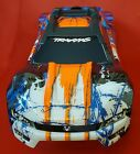 Traxxas 1/10 E-Revo VXL 2.0 Orange Blue Body /Support & Clipless Mount 86086-4