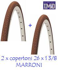 2 COPERTONI DA BICICLETTA 26 x1 3/8 COLORE MARRONE VINTAGE PER BICI OLANDA 26