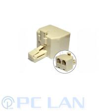 RJ11 Splitter 1 Male to 2 Female Adapter Divider Telephone Phone Fax
