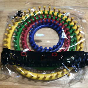 """Knifty Knitter Round Loom Set 4 Pieces by Provo Craft 11"""" 9"""" 7"""" 5"""" Knitting"""