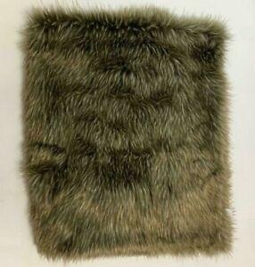 Faux Fur Throw Brown