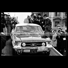 #pha.028679 Photo FORD MUSTANG JOHNNY HALLYDAY & H HENRI RALLYE MONTE CARLO 1967