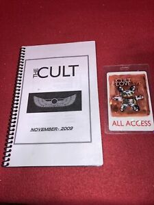 The Cult Love Live 2009 Tour Itinerary And All Access Backstage Pass Originals