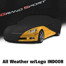 2010-2013 Corvette C6 All Weather Outdoor Car Cover GS Logo Water Proof -Black