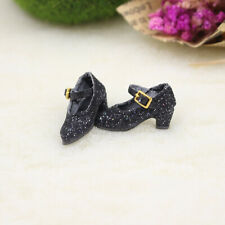 """Prettyia Ankle Strap Shoes for 12"""" Blythe 1/6 BJD Dollfie Doll Clothes Black"""