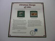 20 Cent Small Madonna and Teddy Bear on Sleigh 1981Christmas Stamps