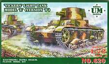 1/72 Vickers light tank model E, version F  UMMT620 Models kits