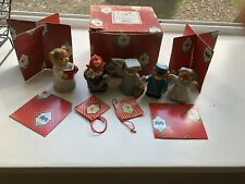 5 Vintage Enesco Lucy & Me Bears And Box Parts.