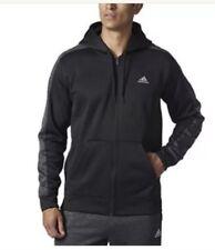 NEW Adidas Men's Tech Fleece Performance Full Zip Hoodie, Black, Size L