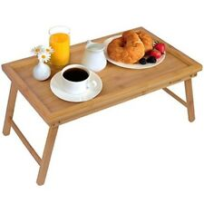 Bed Tray Table with Folding Legs Serving Breakfast in Bed or Use As a TV Table