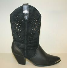 Dingo DI580 Womens Mid-Calf Boots Sz 7.5 M Pointed Cowgirl Studded Star Western