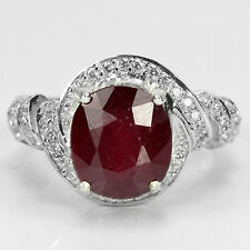 LDN_Bague Rubis Blood Red Rouge Sang _Argent 925_T54