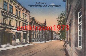 AK Paderborn Westernstraße Postgebäude Hotel Westfälischer Hof  Nr. 116