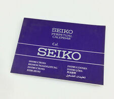 Seiko Watch Instructions Book NEW Authentic Perpetual Calendar Cal. 4F56 & 8F56