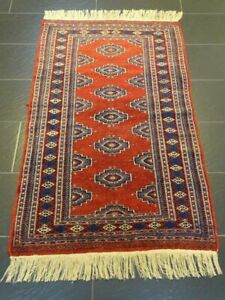 Feiner Handgeknüpfter Orientteppich Buchara Jomut Afghan Carpet Tapis155x95cm