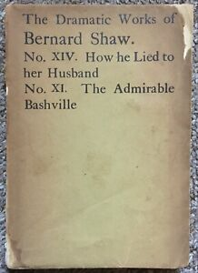 The Dramatic Works of Bernard Shaw, 1925 - Signed? by Author, Good Condition