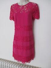 Spotlight by Warehouse Ladies Pink Cerise Lace Shift Dress SIze UK 8