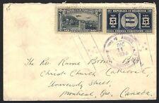 Honduras 1938 cover to Canada