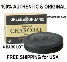6 Pack Madina NATURAL Anti-Aging ACTIVATED CHARCOAL SOAP BAR Acne Pimples Detox