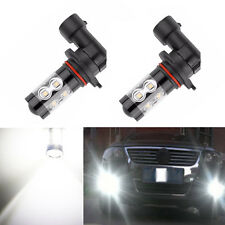 1 Pair 50W H10 LED Fog light lamp For Chrysler 300 300C 2005-2010 6000K White