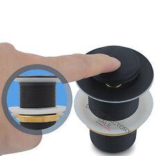 32 mm POP UP WASTE NO OVERFLOW MATTE BLACK Solid Brass Basin Vanity 40mm Adapter