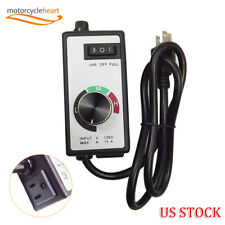 New For Router Fan Variable Speed Controller Electric Motor Rheostat Ac 120v