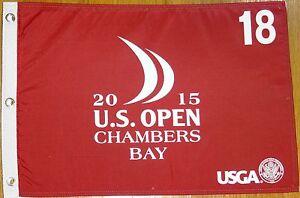2015 US OPEN Chambers Bay golf course flag JORDAN SPIETH 1ST US Open Winner!
