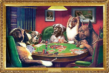 Classic DOGS PLAYING POKER POSTER (A Bold Bluff by C.M. Coolidge)