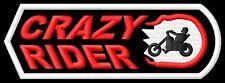 Crazy Rider Chopper toppa ricamata termoadesivo iron-on patch Aufnäher
