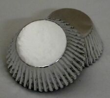 Set of 100 Silver Foil Standard Muffin Baking Cupcake Liners New BCF-02-100 NEW
