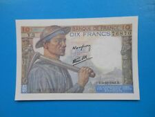 10 francs mineur 9-10-1941 F8/2 NEUF
