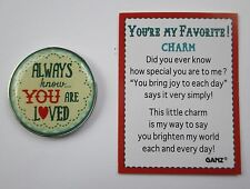 b Always know you are loved hearts YOU'RE MY FAVORITE Pocket Token Charm ganz