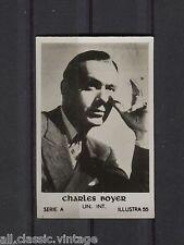 Charles Boyer Vintage Movie Film Star Trading Photo Card Illustra A #55