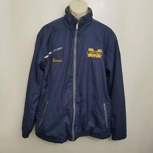 Bauer Mens Flex Senior Jacket Large Blue Personalized Full Zip Pockets Hockey
