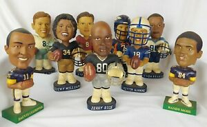 Lot Of 9 Bobblehead NFL Players  - John Elway Jerry Rice Randy Moss Steve Young