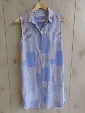 NWOT $268 EQUiPMENT FEMME Michaela Silk Shirt Dress Linear Patchwork Striped S