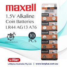 Maxell 10X AG13 1.5v LR44 G13 LR44 A76 GP76A 357 Alkaline Button Coin Battery