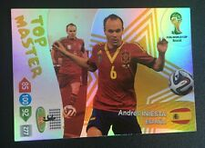 Panini Adrenalyn XL World Cup 2014 Andres Iniesta Top Master card