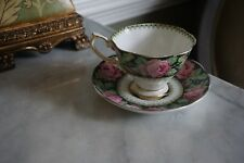 Vintage Needle Point Royal Albert Tea Cup and Saucer Stamped 1676