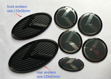 7pcs/set New 3D black carbon K logo badge emblem for KIA OPTIMA K5 2011-2018