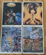 """4 MARVEL Posters 11x14"""" Wolverine X-men Jean Grey Mutants Danger Room Comics 80s"""