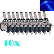 10pcs DC 12V Carbon Fiber Blue LED Toggle Switch Control ON/OFF SPST