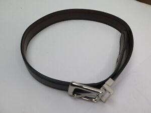 Boy's Chaps Brown & Black Reversible Leather Belt, Size M 26-28